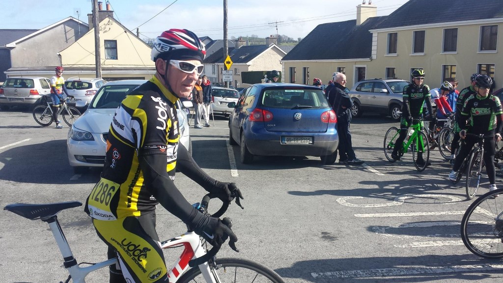 Jim Bourke ready for the A4 race