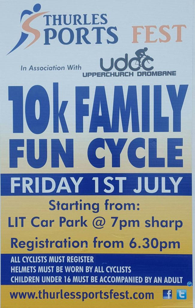 Thurles Sports Fest Cycle in Association with UDCC